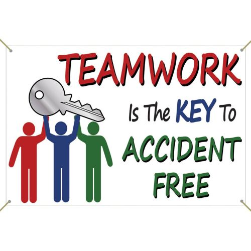 Teamwork Is The Key To Accident Free - Banner