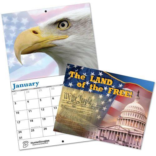 13 Month Wall Calendar - LAND OF THE FREE