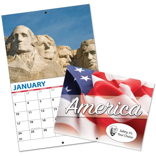 Custom 13 Month Wall Calendar w/ PATRIOTIC THEME