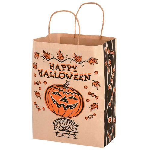 STOCK DESIGN HALLOWEEN NATURAL KRAFT BAG