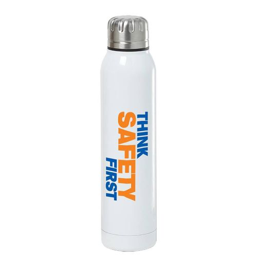 "NS013564 THINK SAFETY"" Vacuum Insulated Sport Bottle"