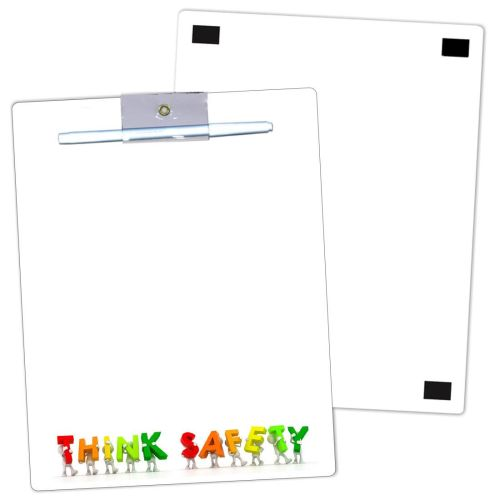 THINK SAFETY Laminated Dry Erase Memo Board