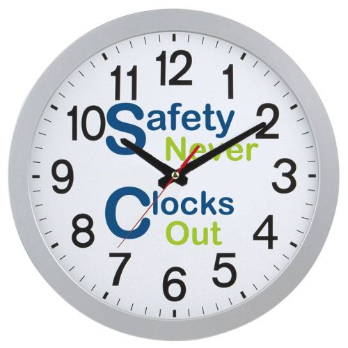 NS0138541 Safety Never Clocks Out Slim Wall Clock