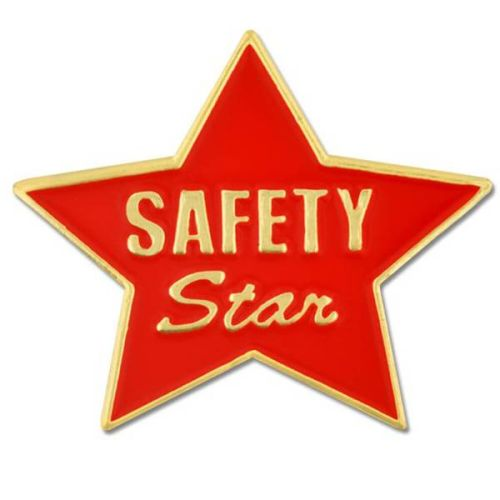 AD010279S Safety Star-  Lapel Pin