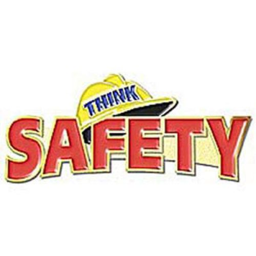 AD010953S Think Safety-  Lapel Pin