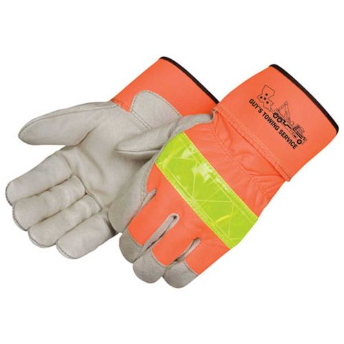 3M Scotchlite Safety Grain Pigskin Work Gloves