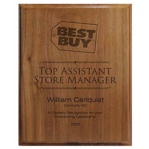 AD0138493 Walnut Veneer Safety AwardPlaque