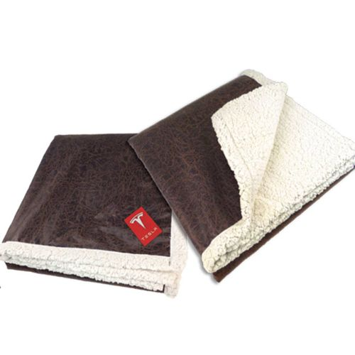 AD0138616 Leather Throw Blanket