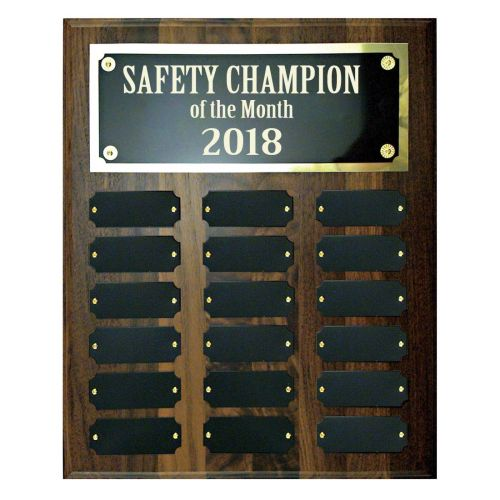 AD0138662 10-1/2 X 13 Perpetual Safety Plaque