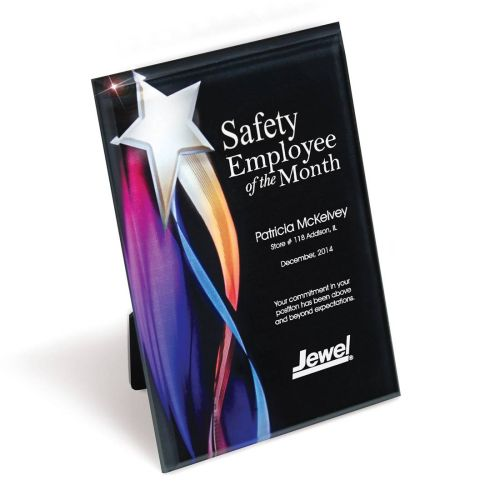 AD0138678 Safety Star Lucite Plaque