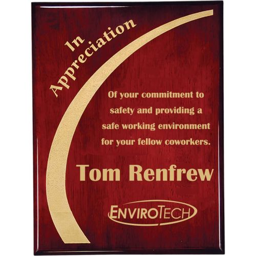 AD0138679 Rosewood Safety Plaque
