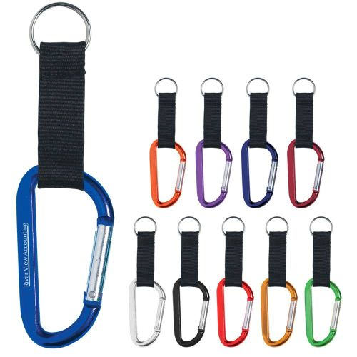 "AD0138681 3"" Carabiner with Strap"