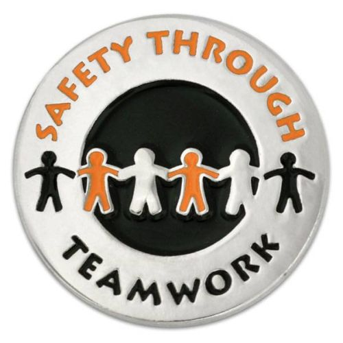 AD0138689 Safety Through Teamwork Lapel Pin