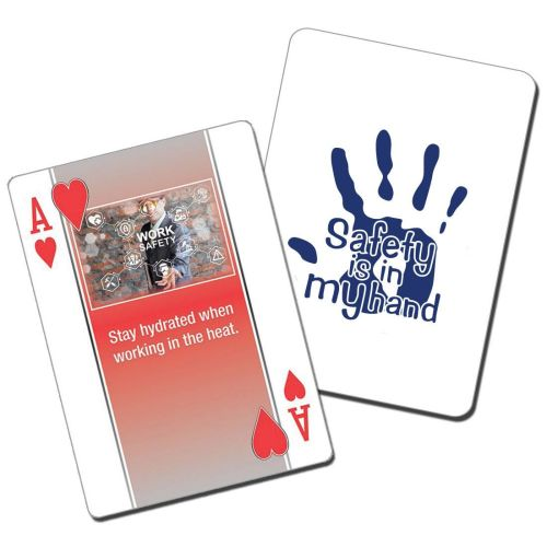 "NS0138704 ""SAFETY IS IN MY HANDS"" messaged Playing Cards"