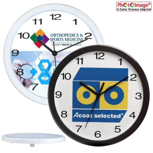 "AD012591 12"" Wall Clock - Safety never clocks out!"