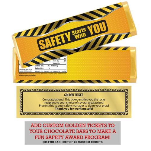 Chocolate Bars with Golden Prize Tickets