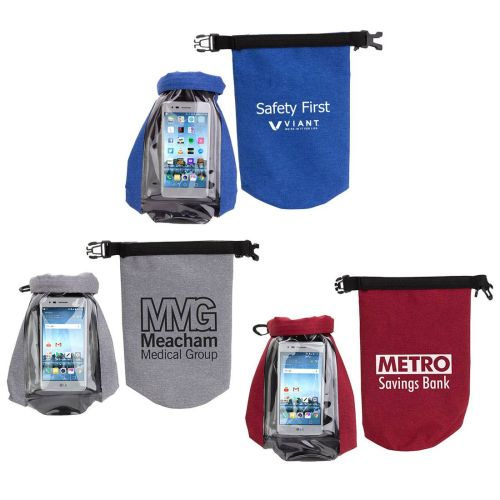 AD0138815 2-Liter Waterproof Bag with Touch-Thru Phone Pocket