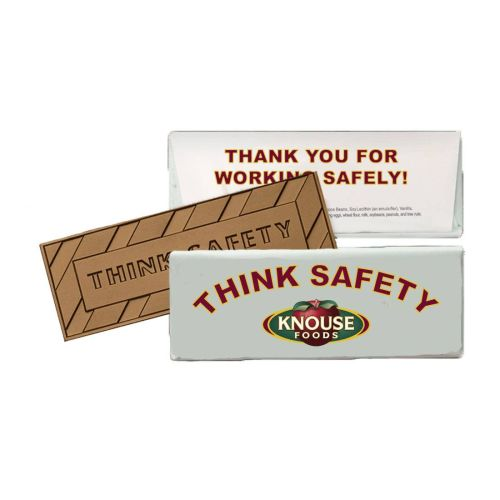 AD0138837 Think Safety Chocolate Bar with Custom Wrapper