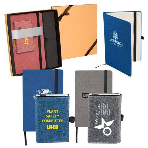 AD0138889 Canvas Notebook/Powerbank Gift Set