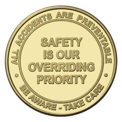 "NS013304 STOCK DESIGN- Safety Challenge Coin- 1-1/2"" Dia."