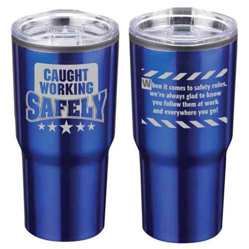 NS0138780  CAUGHT WORKING SAFETY Stainless Steel Tumbler