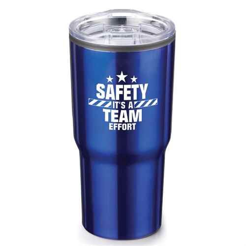 SAFETY-IT'S A TEAM EFFORT Stainless Steel Tumbler Stainless Steel Tumbler 20 oz.
