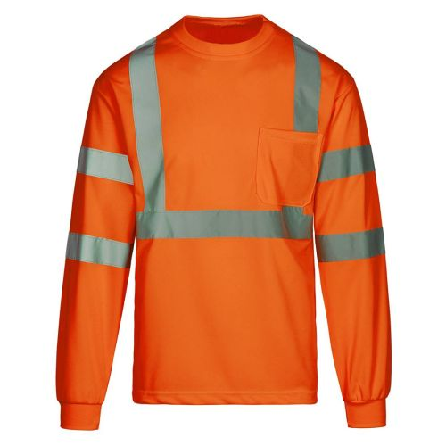 AD01389178 Class 3 Safety Orange Long Sleeve T-Shirt